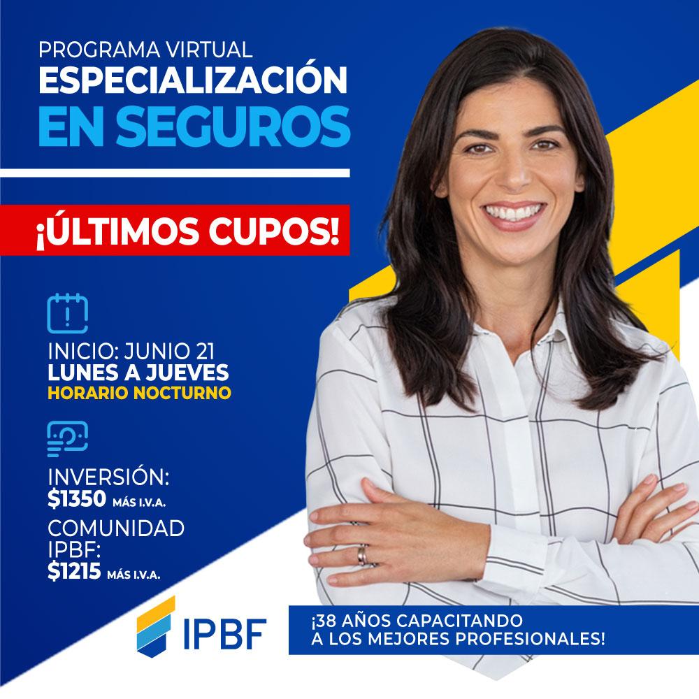 Programa Especialización Seguros IPBF Junio Últimos Cupos